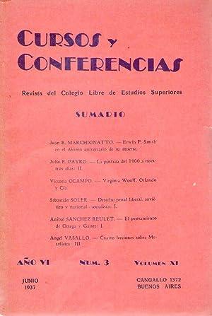 CURSOS Y CONFERENCIAS - No. 3. Año VI. Volumen XI, junio de 1937 (Virginia Woolf, Orlando y ...