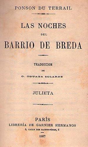 LAS NOCHES DEL BARRIO DE BREDA. JULIETA. Traducción de G. Oduaga Zolarde: Terrail, Ponson du