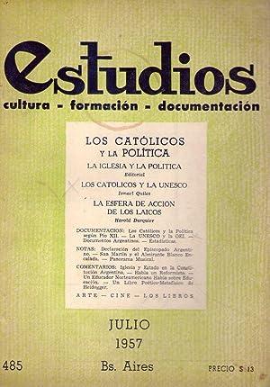 ESTUDIOS - No. 485, julio 1957 (Los: Quiles, Ismael (Director)