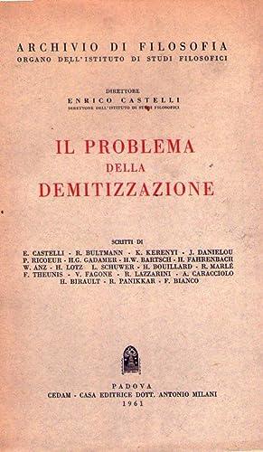 IL PROBLEMA DELLA DEMITIZZAZIONE: AA.VV.