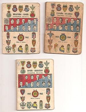 TEMPORADAS DE FUTBOL. (3 vols. de 1959 a 1963)