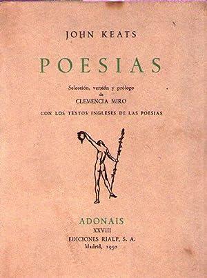 POESIAS. Selección, versión y prólogo de Clemencia: Keats, John
