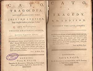 CATO. A TRAGEDY. Without the love scenes. (Done into latin verse) - CATO. TRAGOEDIA. Autore ...