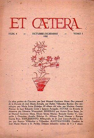 ET CAETERA - No. 4 - Año I, octubre diciembre 1950.: Navarro Sanchez, Adalberto (Director)