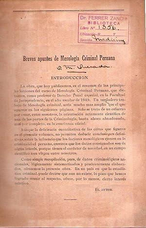 BREVES APUNTES DE MESOLOGIA CRIMINAL PERUANA: Quesada