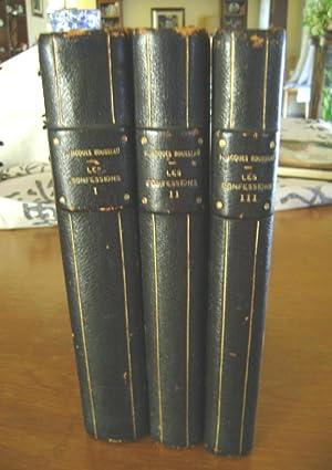 LES CONFESSIONS. Illustrations gravées sur bois de: Rousseau, Jean Jacques