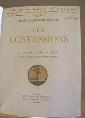 LES CONFESSIONS. Illustrations gravées sur bois de Paul Baudier et Emilien Dufour. (3 vols.)...