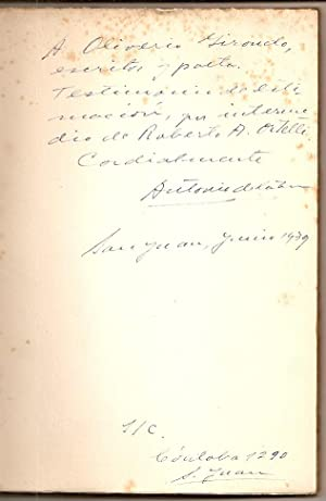 LA TIERRA ENCENDIDA. Poemas. Ilustraciones de Amadeo dell'Acqua [Firmado / Signed]: Torre...