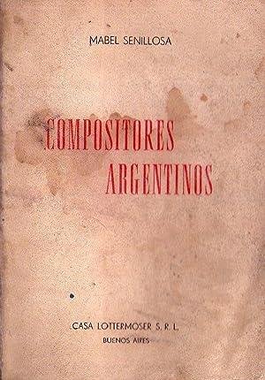 COMPOSITORES ARGENTINOS: Senillosa, Mabel