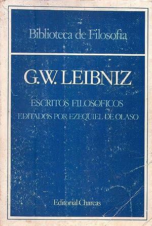 ESCRITOS FILOSOFICOS. Edición de Ezequiel de Olaso. Notas de Ezequiel de Olaso y Roberto ...