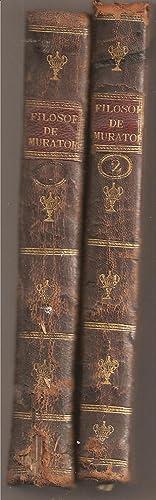 LA FILOSOFIA DECLARADA, Y PROPUESTA A LA JUVENTUD. (2 tomos): Muratori, Luis Antonio
