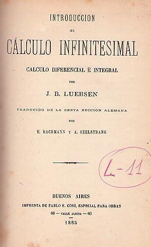 INTRODUCCION AL CALCULO INFINITESIMAL. Cálculo diferencial e integral. Traducido de la sexta...