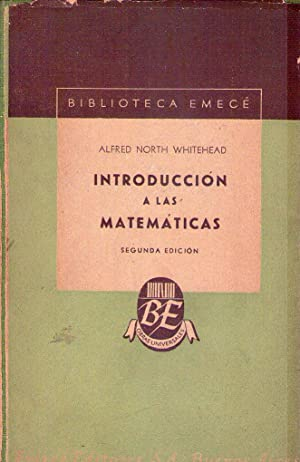 INTRODUCCION A LAS MATEMATICAS: Whitehead, Alfred North