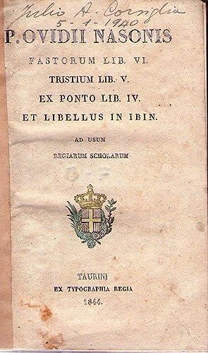 FASTORUM LIB.VI, TRISTIUM LIB. V, EX PONTO: Nasonis, Ovidii