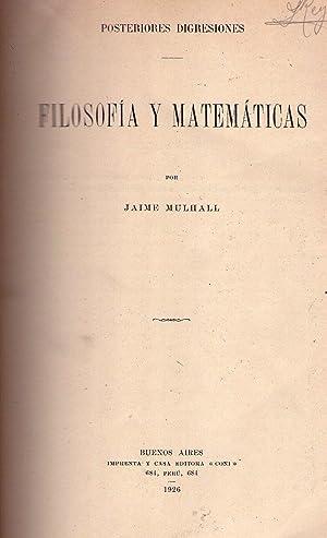 FILOSOFIA Y MATEMATICAS. Posteriores disgresiones: Mulhall, Jaime