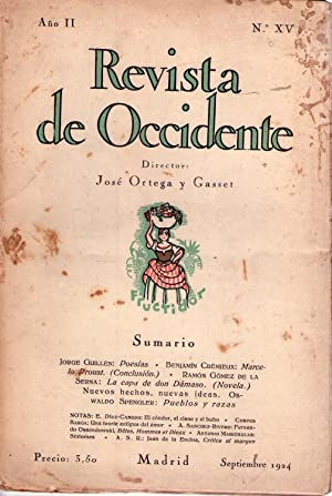 REVISTA DE OCCIDENTE - No. XV - Año II, septiembre de 1924 (No. 15, Año 2): Ortega y ...