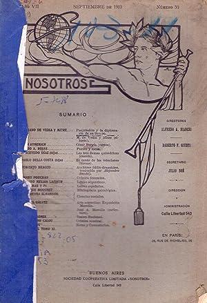 NOSOTROS - No. 53 - Año VII, septiembre de 1913: Bianchi, Alfredo A. - Giusti, Roberto, F. (...