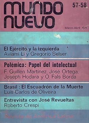 MUNDO NUEVO - Nos. 57 - 58, marzo abril de 1971: Fabra, Manuel (Director)