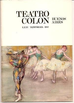 AUTOGRAPHED TEATRO COLON Ballet program, Buenos Aires, 1982 (La lección, Delerue - Espartaco...