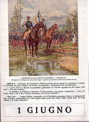 CALENDARIO STORICO - ALMANACCO STORICO PRO ESERCITO. Comitato per gl'indumenti ai soldati e ...