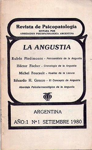 REVISTA DE PSICOPATOLOGIA - No. 1. Año 1, setiembre 1980: Piedimonte, Ruben - Fischer, ...