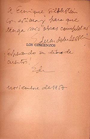 LOS COMIENZOS. (Cubierta y frontis ilustrados por Luis Seoane) [Firmado / Signed]: Dessein, ...
