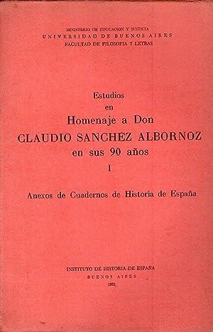 ESTUDIOS EN HOMENAJE A DON CLAUDIO SANCHEZ: Sanchez Albornoz, Claudio)