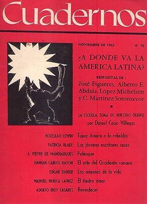 CUADERNOS - No. 78 - Noviembre de 1963: Arciniegas, German (Director)