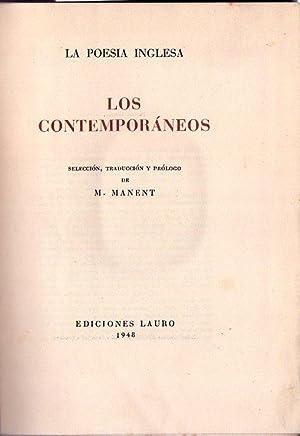 LA POESIA INGLESA. Selección, traducción y prólogo de M. Manent. (3 tomos): ...