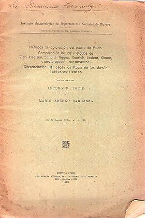 METODOS DE COLORACION DEL BACILO DE KOCH. Comparación de los métodos de Ziehl - ...