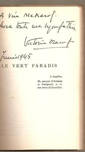 LE VERT PARADIS [Firmado / Signed]: Ocampo, Victoria