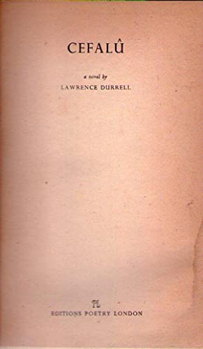 CEFALU. A novel. [Firmado / Signed]: Durrell, Lawrence