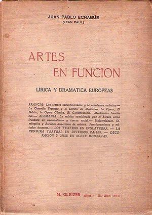 ARTES EN FUNCION. Lírica y dramática europeas: Echagüe, Juan Pablo