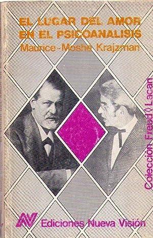 EL LUGAR DEL AMOR EN EL PSICOANALISIS: Krajzman, Maurice Moshe