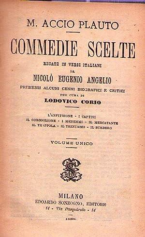 COMMEDIE SCELTE. Recate in versi italiani da: Plauto, Marco Accio