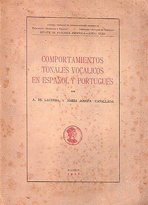 COMPORTAMIENTOS TONALES VOCALICOS EN ESPAÑOL Y PORTUGUES. Trabajo de investigación ...