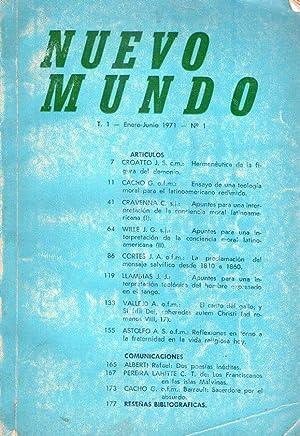 NUEVO MUNDO - No. 1. Enero - Junio 1971. (Dos poesías inéditas por Rafael Alberti): ...