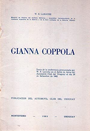 GIANNA COPPOLA. Texto de la conferencia pronunciada por W. E. Laroche en el salón de actos ...