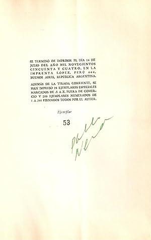 ODAS ELEMENTALES [Firmado / Signed]: Neruda, Pablo