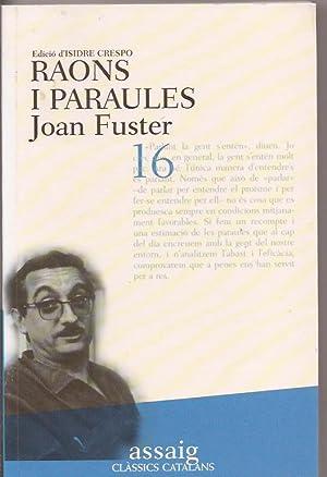 Raons i paraules: Joan Fuster