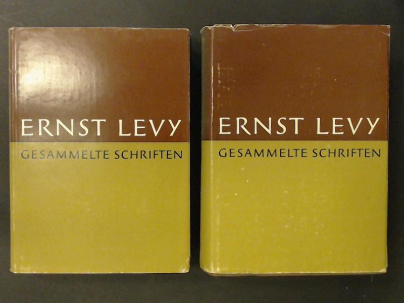 Gesammelte Schriften (vollständig in 2 Bänden). Zu: Levy, Ernst: