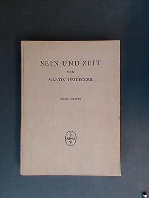 Sein und Zeit. Erste Hälfte (alles erschienene).: Heidegger, Martin:
