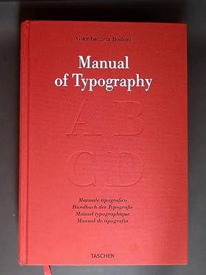 Handbuch der Typografie. Manuale tipografico 1818. Volume: Bodoni, Giambattista: