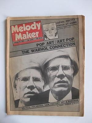 MELODY MAKER FEBRUARY 1980 / POP ART / ART POP THE WARHOL CONNECTION - VELVETS, POAROIDS, S&M, ...