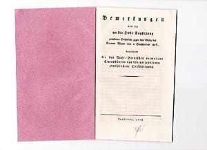 Bemerkungen über die an die Hohe Tagsatzung gerichteten Einsprüche gegen das Gesetz des Cantons ...