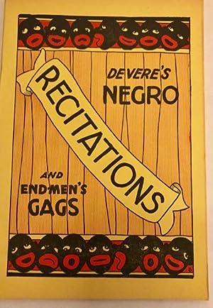 Devere's Negro Sketches / Recitations /End-Men's Gags: Devere, William