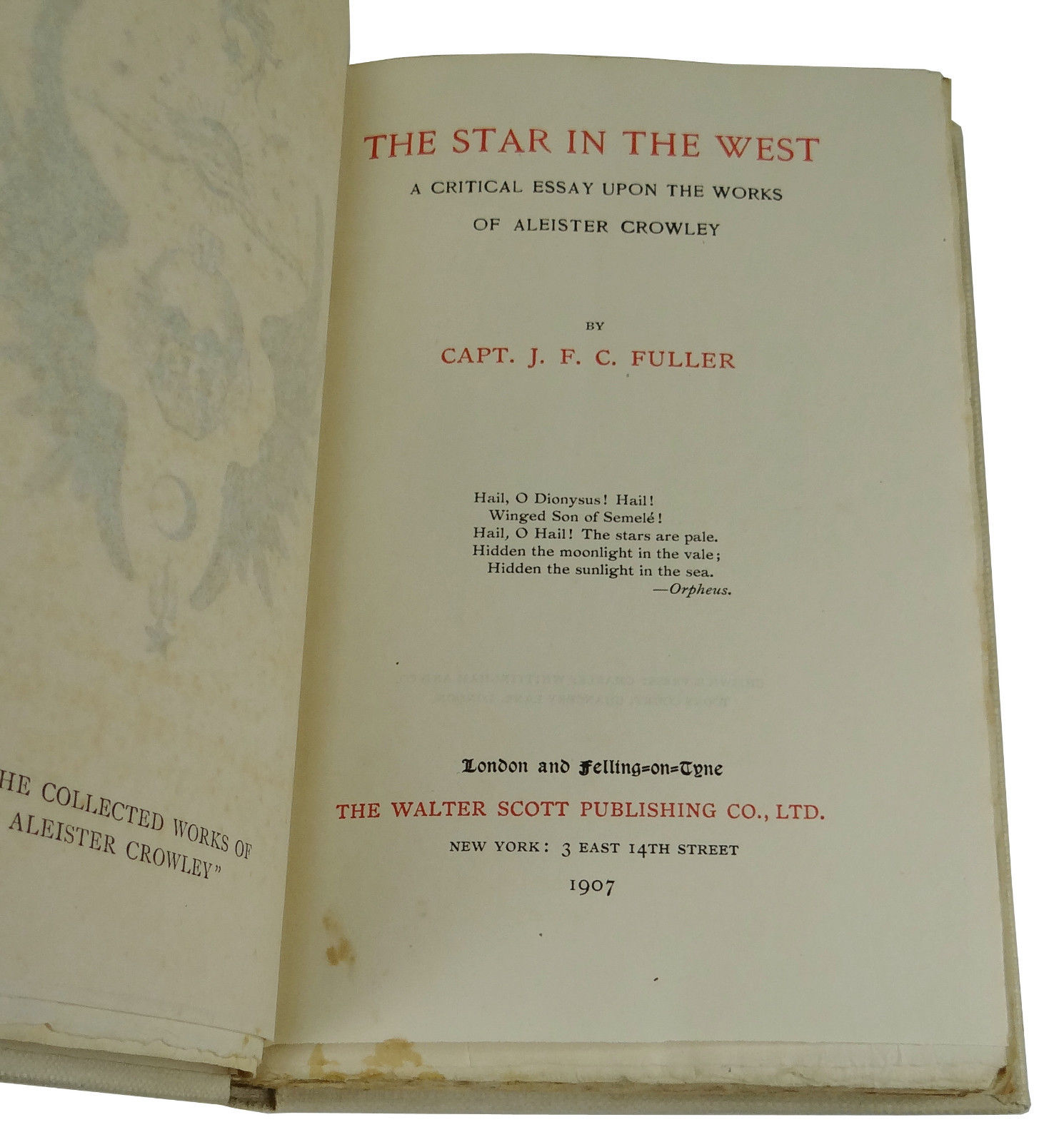the star in the west a critical essay upon the works of aleister   the star in the west a critical essay upon the works of aleister crowley