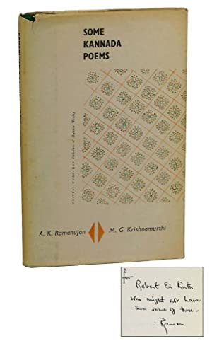 Some Kannada Poems: Ramanujan, A. K.;