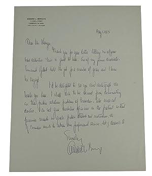 ALS Autograph Letter Signed: Bernays, Edward L.
