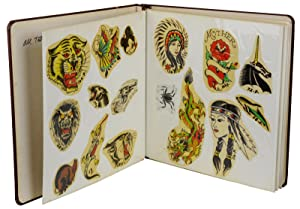 1970s sample book with approximately 200 designs for tattoos
